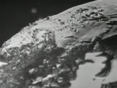 1957 BBC TV The Restless Sphere – Rocket launch to satelite model of the globe, clip.