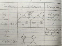 Story Boards from Classroom Work at Carshalton Sports College