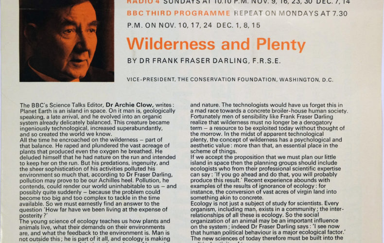 BBC Reith Lectures 1969 – Wilderness and Plenty – Man and Nature Clip 2